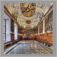 Adsy Bernart photographer architecture photography Refectory in the monastery of the Salvatorianer in Vienna Austria